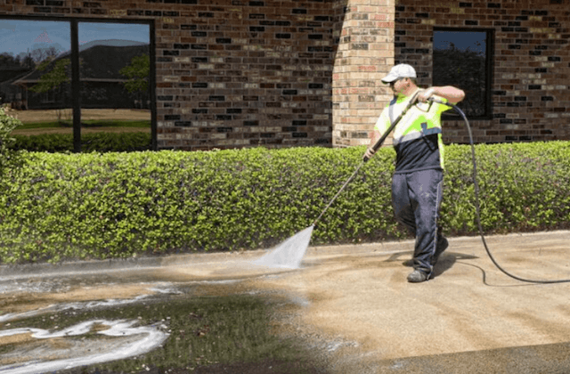 commercial concrete cleaning in winston-salem